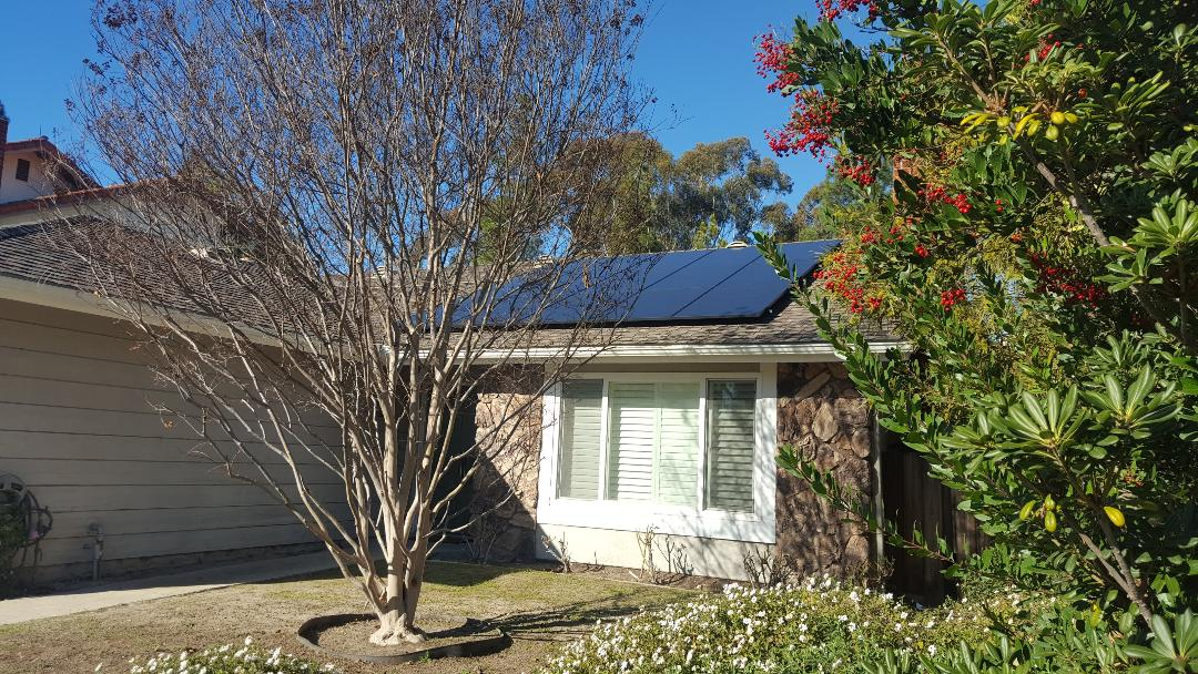 Another San Diego Solar installation in Tierrasanta. 15X 315W QCell panels (4.725kW). SolarEdge 3800 HD Inverter3