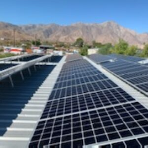 Commercial solar install in Borrego Springs- 126X 355 Watt Solar panels.